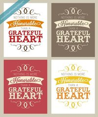 Free grateful heart printables