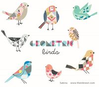 Geometric birds by The Ink Nest