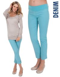 Sea Mist Cropped Maternity Jeans