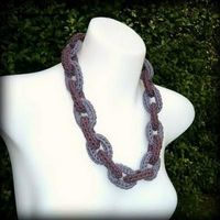 Crochet Chain Link Necklace {Make Jewelry}