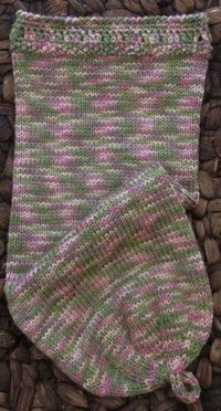 Rose Garden cocoon - knit by GrandmothersAttic.net