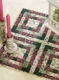 Free Garden Pathways quilted table topper pattern