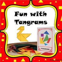 Free tangram booklet and templates (great problem solving activity for elementary age and great matching activity for preschoolers) from Being Inspired
