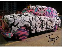 Compulsive Crocheter Olek Yarn Bombs a Room and a Taxi with Stunning Results (Photos) #yarnbomb