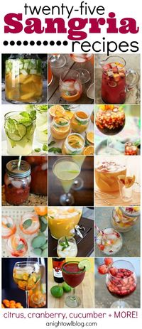 25 sangria recipes--- for my sangria-loving hubby :-)
