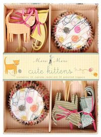 kitty cupcake picks and liners!