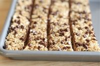 Okay, these are going to be hard to beat. The kids say they love them more than the Trader Joe's granola bars I buy. They are simple and fast to make. LOVE these and so will you. Recipe only makes about 10 bars so you're going to need to at least ...