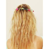 Free People Neon Fiona Flower Crown found on Polyvore