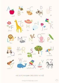 Free Precious Printable Alphabet Print (Ready to Frame)