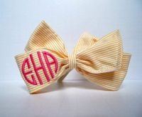 monogramed bow