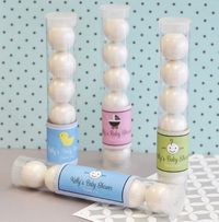Baby Shower Personalized Candy Tube Favors