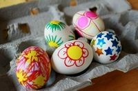 Easy, no-mess way to decorate Easter Eggs--colored Sharpies!