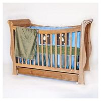 Solid wood birch convertible baby crib