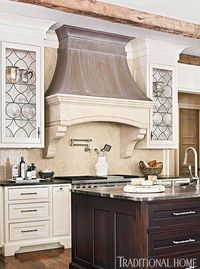 Distinctive Kitchen Cabinets with Glass-Front Doors - Traditional Home®
