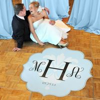 Modern Love Wedding Dance Floor Decals. I love this idea I'm getting one for our first dance :-).