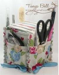 NTS: make lots of these....oh so cute, stamping caddy--could be used for lots of things