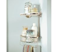 Double Corner Shower Caddy, Polished Nickel finish