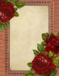 Romantic Red Roses ~ free printable stationery