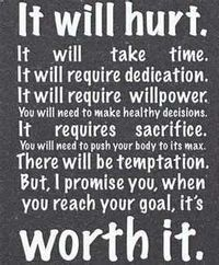 """fitness inspiration quote """"It will hurt. It will take time. It will require dedication. It will require willpower. You will need to make healthy decisions. It requires sacrifice. You will need to push your body to its max. There will be temptation. Bu..."""
