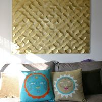 DIY Fish Scale Wall Art