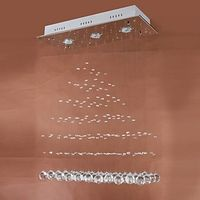 Elegant Romantic 3 Light Flush Mount with Crystal Waterfall Design