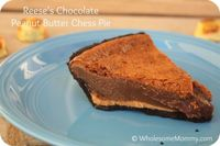 Reese's Chocolate Peanut Butter Chess Pie