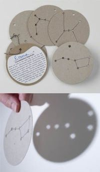 How do you educate children about constellations during daylight hours? Here's how! We have created and professionally die-cut cardboard medallions with holes to represent each individual star in a constellation. When light shines through the medallio...