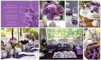 purple theme bridal shower