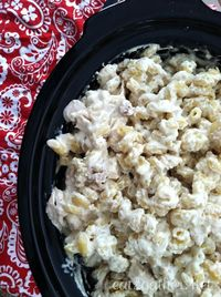 Crock Pot Chicken Alfredo for a crowd