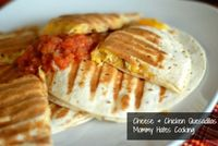 Gluten Free Cheese & Chicken Quesadillas