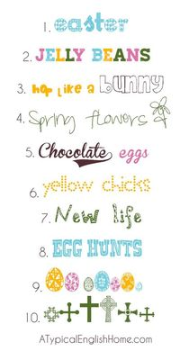 More Easter Fonts very cute