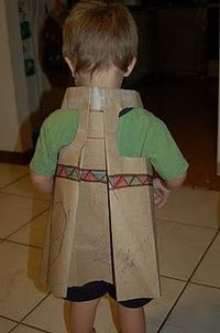 Tutorial on how to make an Indian costume out of a Paper Bag!