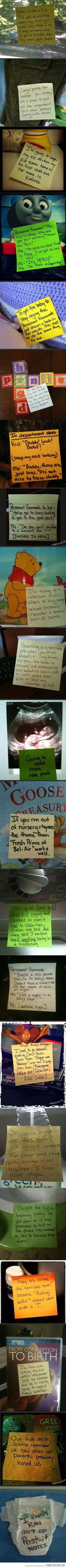 Post it notes from a stay-at-home dad�€�