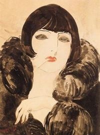 �€œPortrait of a Woman with Cigarette (Kiki de Montparnasse)�€ by Kees van Dongen c. 1922.1924