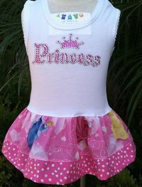 Disney Princess Dress Available in 03 by BabyThreadsByLiz, $23.00