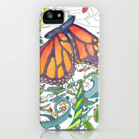 """iphone case """"Butterfly Garden"""" by Catherine Holcombe"""
