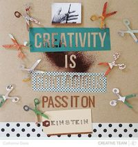 Creativity is Contagious page by Catherine Davis - plus a free scissor die cut file download