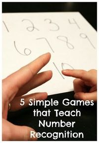 5 simple games for teaching number recognition to preschoolers