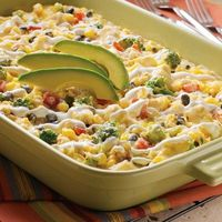 Easy One-Dish Fiesta Chicken Casserole