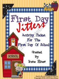 This book unit has 75 pages of games, activities and printables that correlate with the book First Day Jitters. $