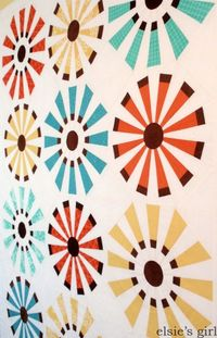 Sunburst baby quilt - Part 1.