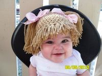 Crochet hat/wig for Cabbage Patch Doll costume.