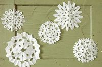 Repurpose coffee filters to create four darling home decorations.