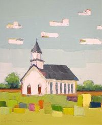 Oil Painting on Canvas by Donna Walker- Country Church