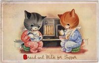 Bread and Milk for Supper (Valerie Hodge postcard)
