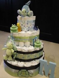 Diaper Cake from Sweetsbykim.net