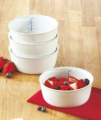 Portion Control Bowls with Measurements