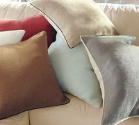{Hopsack Pillow Covers #potterybarn}.
