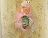 Queen of Pink vintage inspired doll ornament decoration
