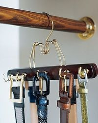 Once again- Thank you Martha! Belt storage. I've been needing to make something like this for ages.